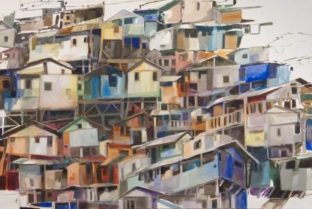 04_Fremder Verkehrsort Favela 5 160 x 240 cm Oel_Leinwand 2011