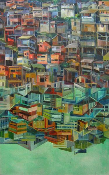 24_Favela 1 Oel_Leinwand 160 x 100cm 2009